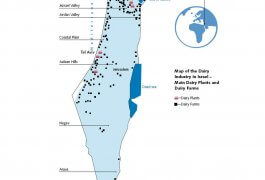 Map of the Dairy Industry in Israel